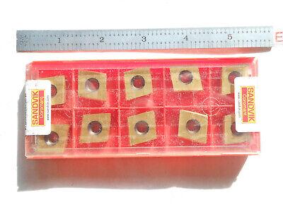 New 10pcs Sandvik Coromant S-009370l 13 B2d1 Steel Grade Indexable Mill Inserts