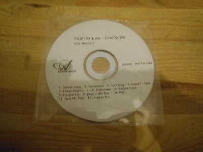 CD Pop Raph Krauss - Finally Me (12 Song) Promo AURORA MUSIC disc only
