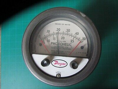 Dwyer Photohelic Pressure Switchgauge Series 3000-oavc Used