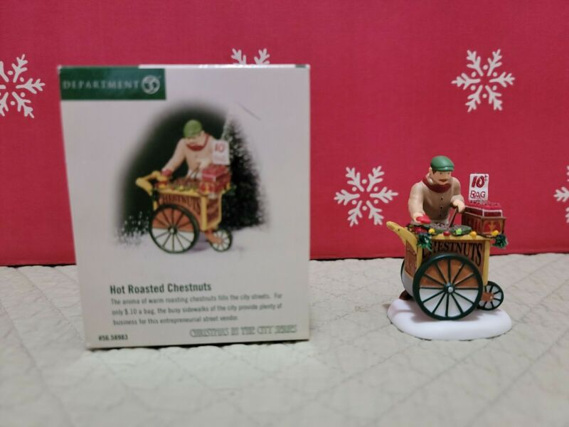 """Department 56 """"Hot Roasted Chestnuts"""" Christmas In The City"""