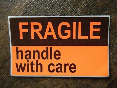 Fragile Handle With Care Stickers 3 X 5 Large Self Stick Label