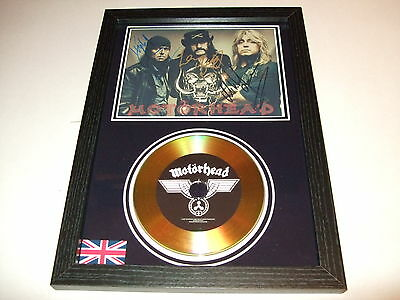MOTORHEAD   SIGNED FRAMED GOLD DISC   DISPLAY(5)