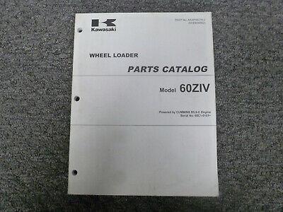 Kawasaki 60ziv Wheel Loader Parts Catalog Manual Sn 60c1-0101 Up