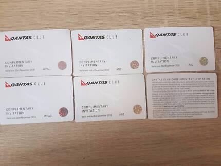 10 qantas club lounge pass 55AUD each (ACT or Sydney)