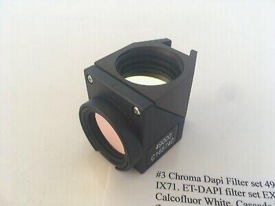 Chroma Dapi Filter Set 49000 In Olympus U-mf2 Bx61 Bx51 Bx41 Bx50 Bx40