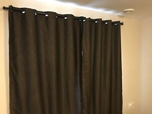 Costco Blackout curtains w/ rod and wall mount