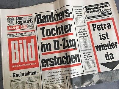 Bildzeitung 06. März 1972 BILD Zeitung 06.03.1972 * 46. 47. 48. 49. Geburtstag