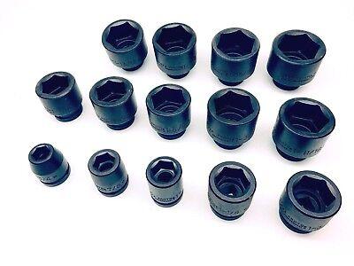 Stanley Proto 34 Drive Impact 6-point Socket Set 14 Pieces J07512-j07532