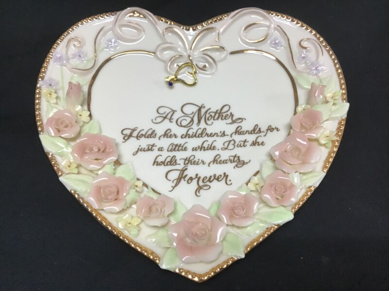 """Limited Edition """"What Mother Holds Dear"""" Precious Heart Collection Plate # J7737"""