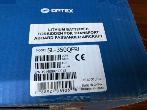 Optex SL-350QFRi  Battery-Powered Photoelectric Detector Incl En1941 Transmitter