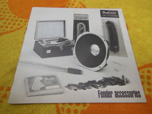 Vintage Fender Accessories Catalog from Late 1960