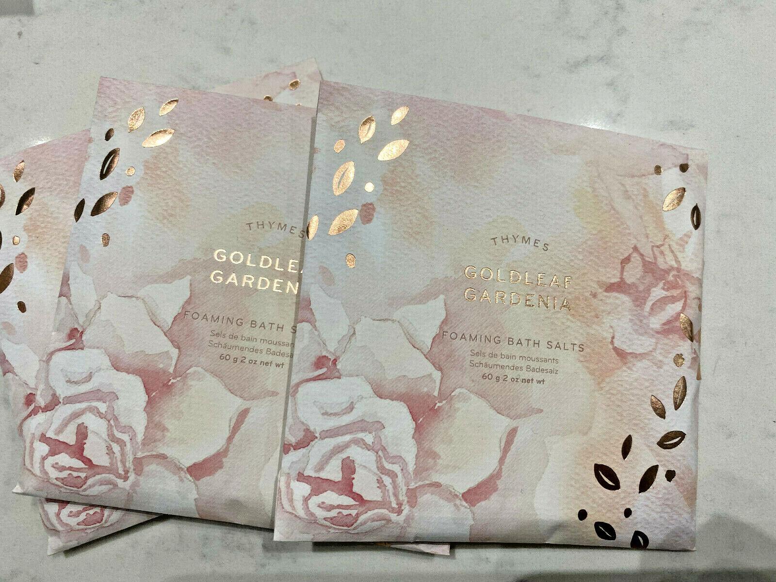 Thymes Goldleaf Gardenia Perfumed Foaming Bath Envelope, 2oz