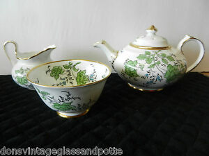 RARE-ROYAL-CHELSEA-BUTTERFLY-TEA-SET-CUPS-SAUCER-TEAPOT-SUGAR-CREAMER-AND-MORE