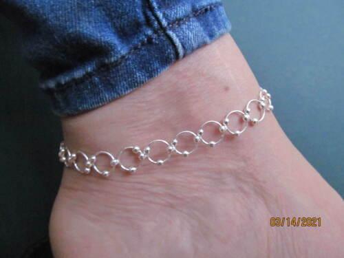 "Anklet, Sterling Silver, Length 9""-10"" (9392)"