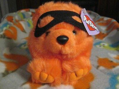 TRICK THE BANDIT HALLOWEEN BEAR PLUSH BEANIE PUFFKINS NWT