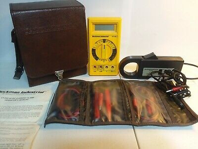 Beckman Industrial Hd140b Digital Multimeter With Ct-233 Ac Current Clamp Case