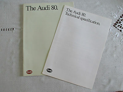 1989 AUDI 80 RANGE BROCHURE AND SPEC BOOKLET