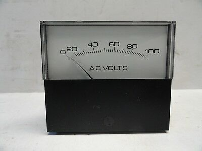 Analog Ac Volts Meter 0 - 100 Panel Meter