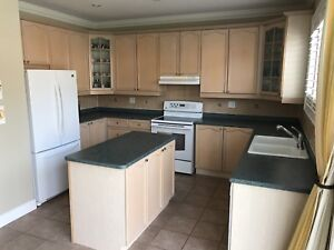 Kitchen cabinets (solid wood), excellent condition
