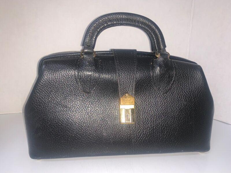Vintage Schell Black Dr Bag EUC