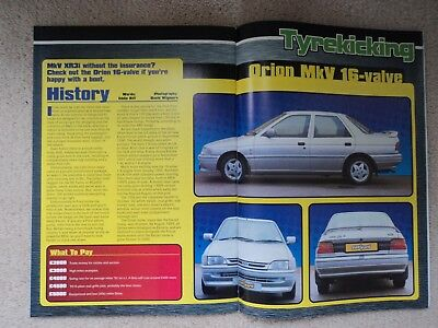 Ford Orion Mk. V 16 Valve (Incl.Ghia) - Buyers Guide  - (Fast Ford Mag.) - 1998