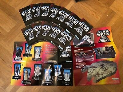 14 X Star Wars Hasbro Kenner POTF 2 Werbung Flyer advertisement Vader leia R2-D2