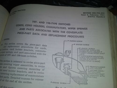 BELL SYSTEM PRACTICES PLANT SERIES GENERAL PLAN ISSUED BY OPERATING 1960S--50S
