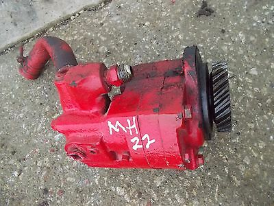 Massey Harris 22 Tractor Mh Good Working Hydraulic Pump Assembly W Drive Gear