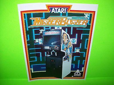 Atari MAZER BLAZER Original 1983 NOS Classic Video Arcade Promo Sales Flyer Rare