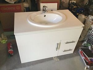 Stone Top White Bathroom Vanity, Sink, Tap, Handles included Middleton Grange Liverpool Area Preview