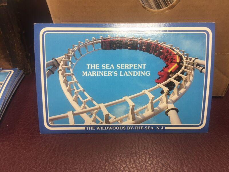 Vintage 1980s Wildwood NJ Boardwalk Morey's Pier Sea Serpent Postcard