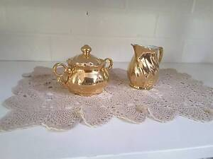 St Kilda gold plated sugar bowl and milk jug Newcastle Newcastle Area Preview