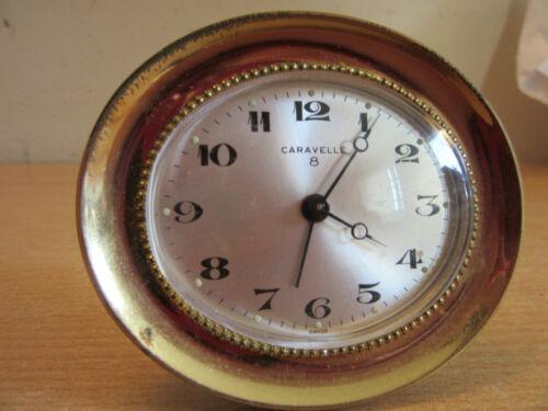 Vintage Caravelle, swiss winding 8 day travel alarm clock C 2501