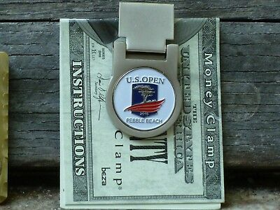 US Open 2019 Pebble Beach White Spring Loaded Money Clip Standard Size