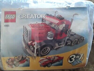 LEGO SET 4955 CREATOR BIG RIG 3 IN 1 100% COMPLETE AND INSTRUCTIONS
