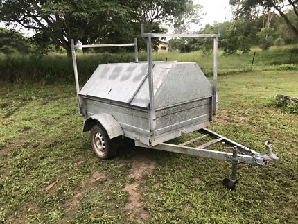 6x4 enclosed galvanized trailer