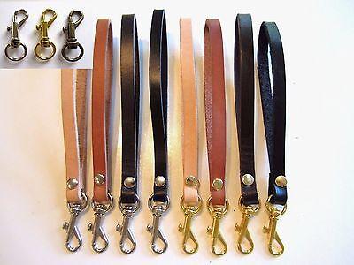 Leather Wrist Strap, Replacement Strap, Wristlet Purse Strap, Key Chain, Key Fob
