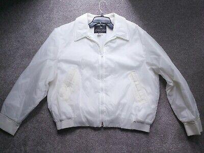 Golden Fleece Outerwear Spiewak nylon zip jacket white XL vintage deadstock