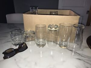 Glass cups $10