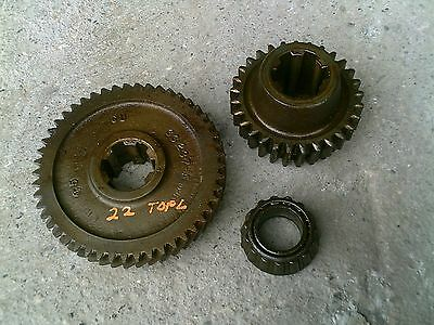 Massey Harris 22 Tractor Original Mh Transmission Top Drive Gear Gears Bearing
