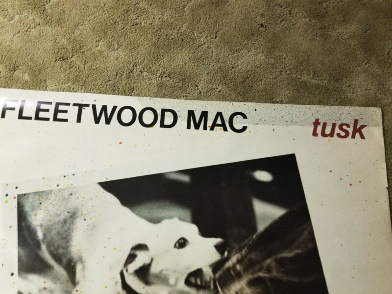 Vintage Oversized Fleetwood Mac Tusk Poster, Promotional Record Store Display