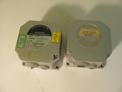 Pair Of Paroscienctific Inc. Digiquartz Pressure Transducer Model 230-A , NASA