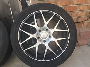 Micheliin tires on the rims