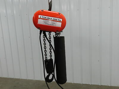 Cm Lodestar Electric Chain Hoist 2 Ton Model R 115v 1ph 19 Lift Load Tested