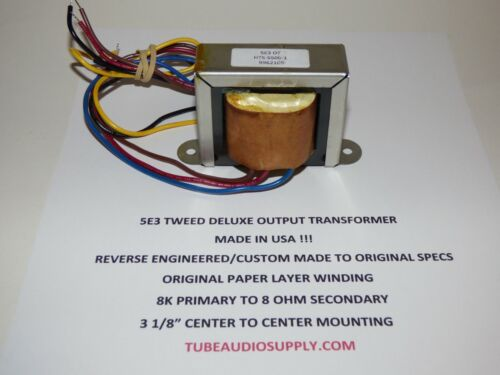 5E3 OUTPUT TRANSFORMER, TWEED DELUXE, USA made by Heyboer, Paper Layer wound