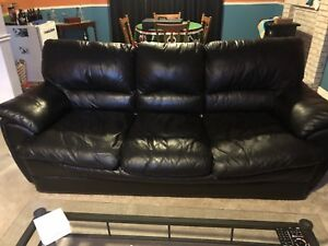3pc Black Leather Sofa Set best offer. Need gone by Thursday.