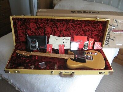 2019 FENDER AMERICAN ORIGINAL 50s TELECASTER ASH MAPLE 52 REISSUE CASE - MINT