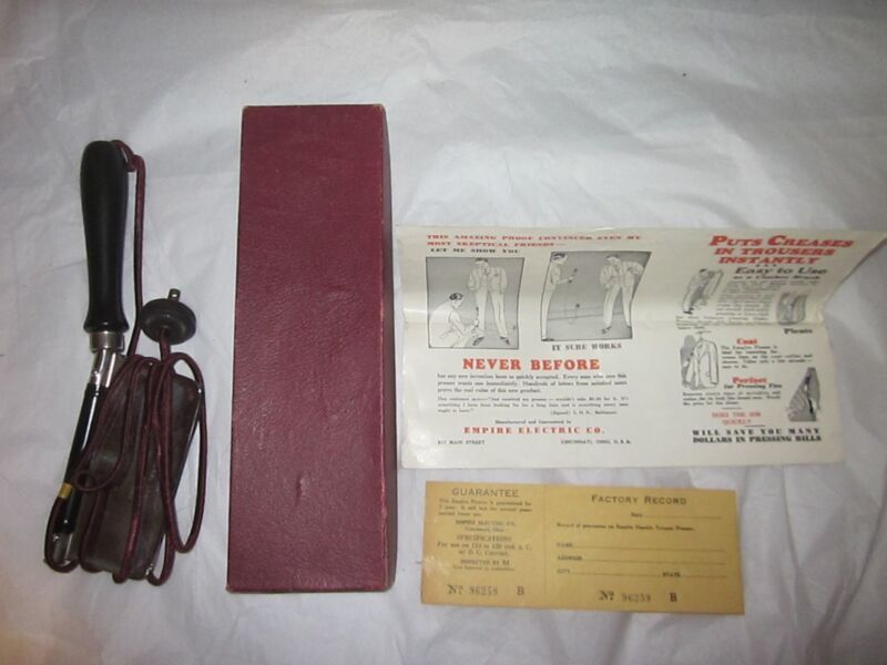 1933 EMPIRE Electric Presser in Box