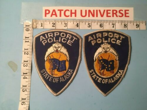 LOT OF 2  DIFFERENT ALASKA AIRPORT POLICE  SHOULDER PATCHES  Q054