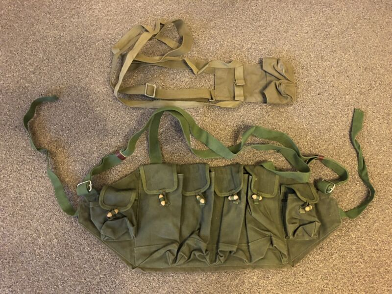 CHINESE ARMY VIET CONG Stick Grenade Webbing Carrier + Type 81 Chest Rig Chicom